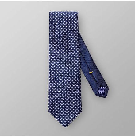 ETON blå med vita hjärtan slips
