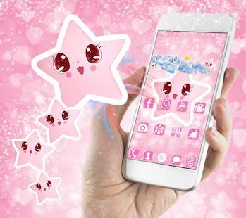 Cute Baby pink Star Kawaii Theme - náhled