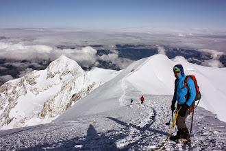 Photo: Zejście do Refuge-Bivouac Vallot (4362 m).