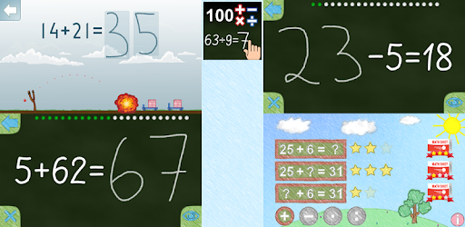 Math up to 100 app for Android screenshot
