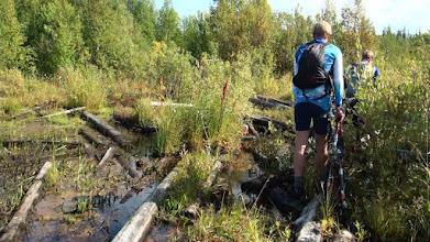 Photo: Дорога на Ребалду утонула в болоте