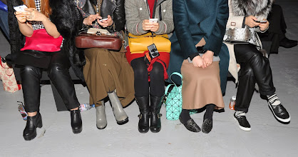 Photo: LONDON, UNITED KINGDOM - FEBRUARY 17: Guests footwear detail during the Christopher Kane show at London Fashion Week AW14 at  on February 17, 2014 in London, England. (Photo by Stuart C. Wilson/Getty Images)