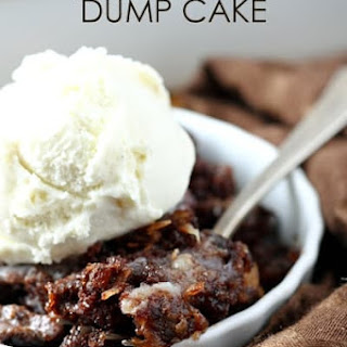 German Chocolate Dump Cake.