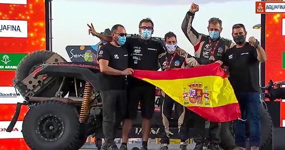 Finaliza el Dakar 2021, Hinojo y Ortega se clasifican séptimos, un nuevo éxito