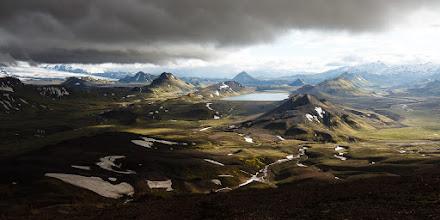 Photo: Bad weather arriving while descending the Jökultungur