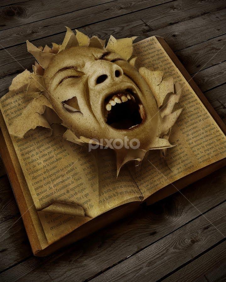book of false hope by Zul Hilmi - Digital Art Things ( face, fine art, book, expressive, hope )