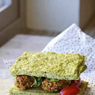 Dukkah-Crusted Avocado, Hummus, Tomato Bruschetta Flatbread (Grain Free, GF, Dairy Free, Mayo-Free) + Homemade Flatbread Recipe!
