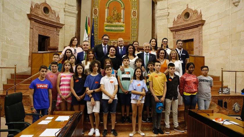 Delegación almeriense del Miguel Zubeldia de Serón en el Parlamento andaluz.