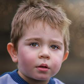 Brown Eyes by Piotr Owczarzak - Babies & Children Child Portraits ( children, childhood, kids, young, portrait )