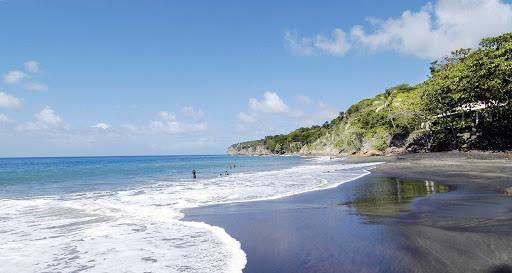 Montserrat-woodlands-bay-beach - The popular Woodlands Bay beach in Montserrat.