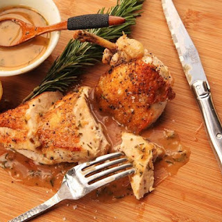 Easy Pan-Roasted Chicken Breasts With Lemon and Rosemary Pan Sauce.