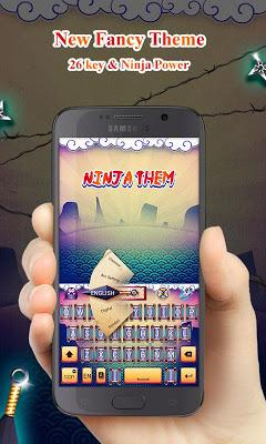 Ninja GO Keyboard Theme Emoji - screenshot