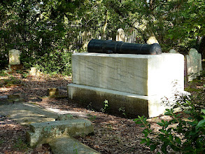 Photo: Otway Burns gravesite topped by his cannon - Old Burying Ground circa 1731 - Beaufort, NC Photo courtesy David Sobotta