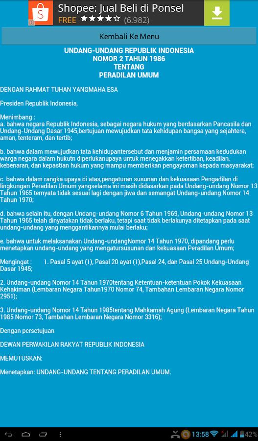 Undang Undang Republik Indonesia Nomor Download Lengkap