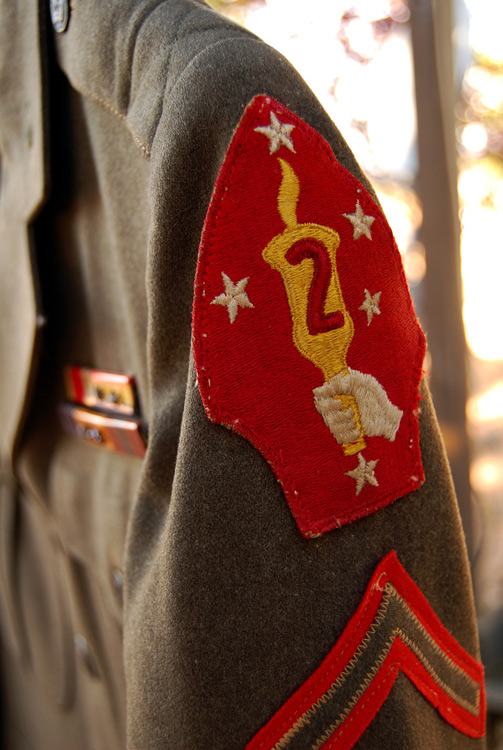 2nd Marine Division Patch on his uniform
