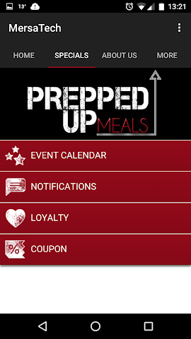 android Prepped Up Meals Screenshot 0