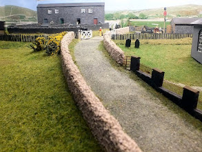 Photo: 122 Looking up the lane towards the gated level crossing at Garreg Wen .