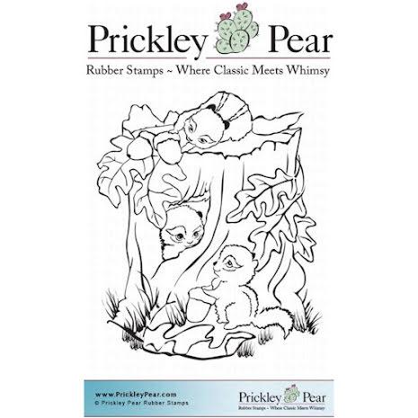 Prickley Pear Cling Stamps 3.75X3 - Chipmunks At Play UTGÅENDE