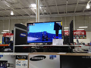 Photo: on our way out we stopped to look at TVs. They are all so big and very pricy!