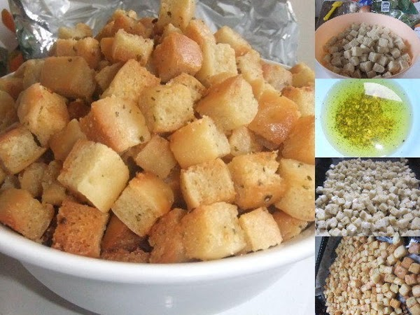 Pizza Base Croutons Recipe