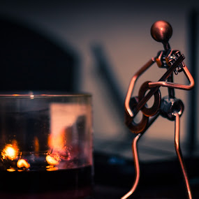 by Bonnie Filipkowski - Artistic Objects Other Objects ( candle, december, 2015, still life, guitar,  )