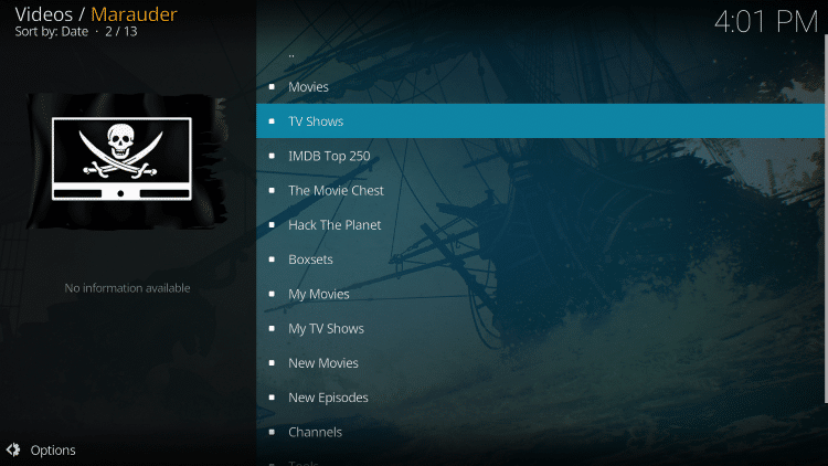 For these reasons and more, Marauder has been chosen as a Best Kodi Add-On by TROYPOINT.