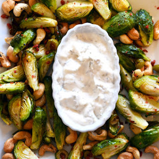 Roasted Brussel Sprouts with Vegan Aioli Recipe
