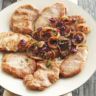 Pork Medallions with Cranberry-Onion Relish Recipe