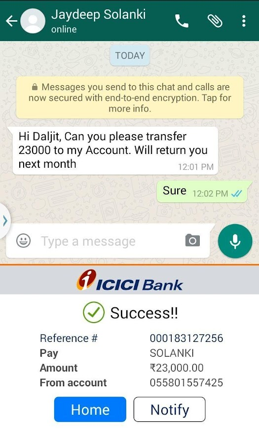 iMobile by ICICI Bank- screenshot