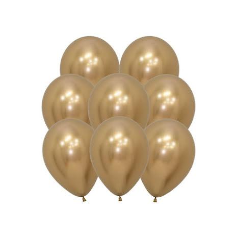 Ballonger, krom guld 10 st