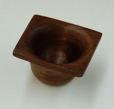 "Photo: Elliot Schantz - square walnut bowl - 2.75"" x 1.5"""