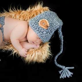 Woodland Baby  by Amber Welch - Babies & Children Babies ( gnome, children, hands and feet, sleeping, baby, newborn )