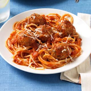 Spaghetti and Sausage Meatballs