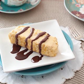 Peanut Butter Semifreddo with Chocolate Fudge Sauce