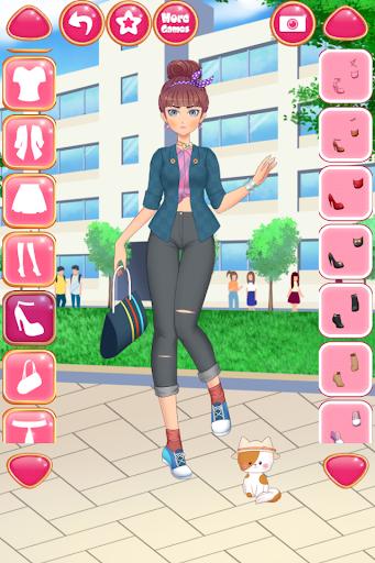 Anime Girls Fashion - Makeup & Dress up apktram screenshots 6