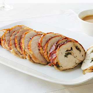Roasted Rolled Turkey Breast with Herbs.