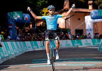 """Rastalent van Astana bevestigt na sterke Ronde van Lombardije: """"Ik ben absoluut gelukkig"""""""