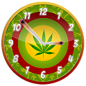 Rasta Weed Clock Widget icon