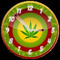Rasta Weed Clock Widget icon