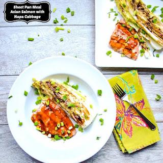 Sheet Pan Asian Salmon with Napa Cabbage