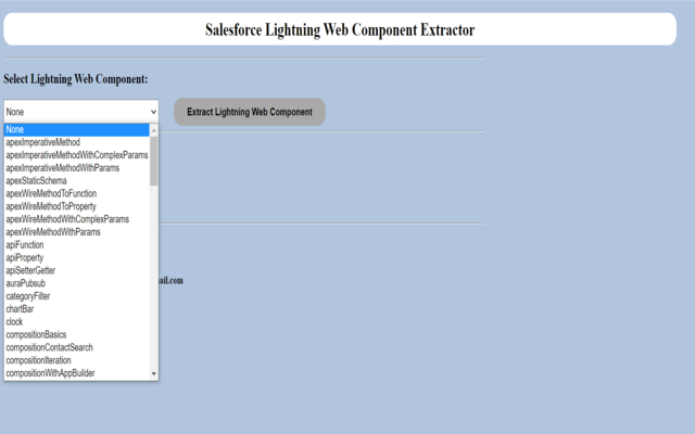 Salesforce Lightning Web Component Extractor