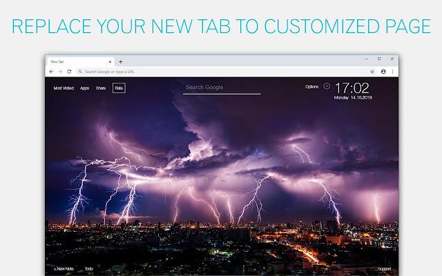 Nature Lightning Wallpaper HD Custom New Tab