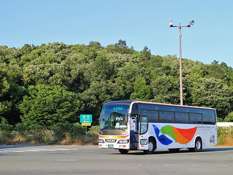 西鉄観光バス 9631 北熊本SA休憩中