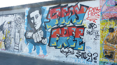 "Photo: East Side Gallery; Christopher Frank ""Stay Free"""