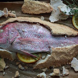 Salt Baked Fish With Escovitch Veggies