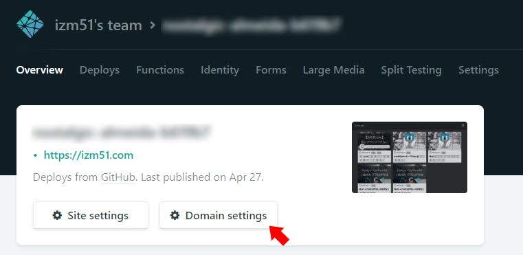 Netlify-domain-setting