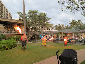 Photo: Fire Dancers at Turtle Bay Resort