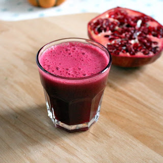 Cranberry Pomegranate and Ginger Juice.