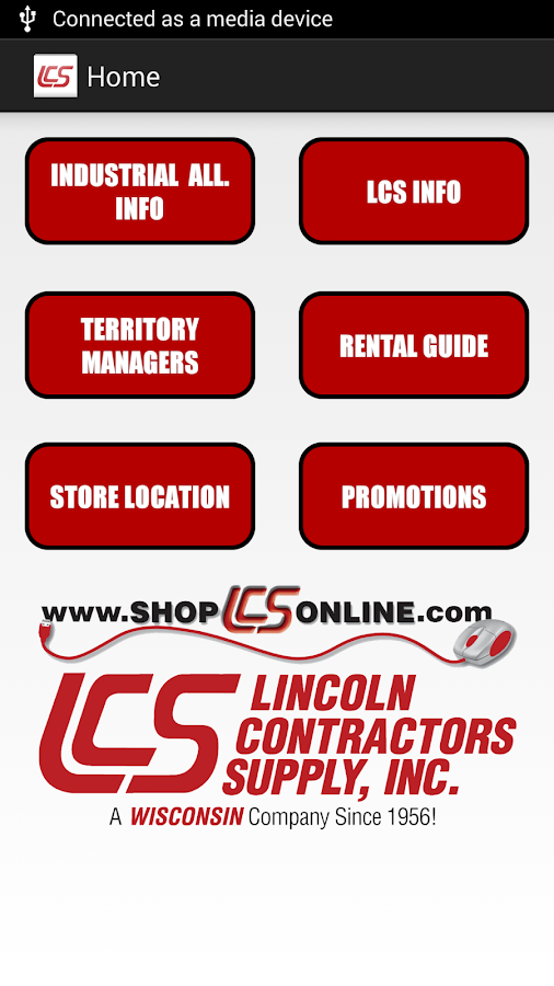 Lincoln Contractors Supply App- screenshot