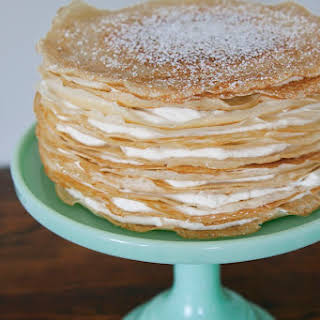 Bailey's Irish Cream Crêpe Cake.